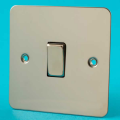 Varilight 1 Gang 1 or 2 Way 10A Rocker Light Switch Ultra Flat Mirror Chrome XFC1D
